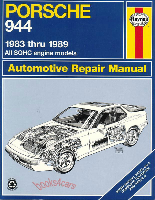 porsche 944 shop repair manual