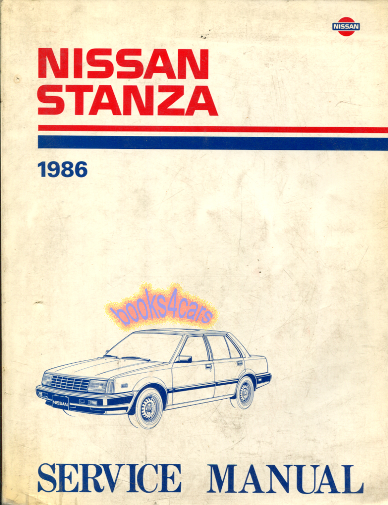 Nissan Stanza Manuals At 92 Altima Wiring Diagram 86 Shop Service Repair Manual By Svc