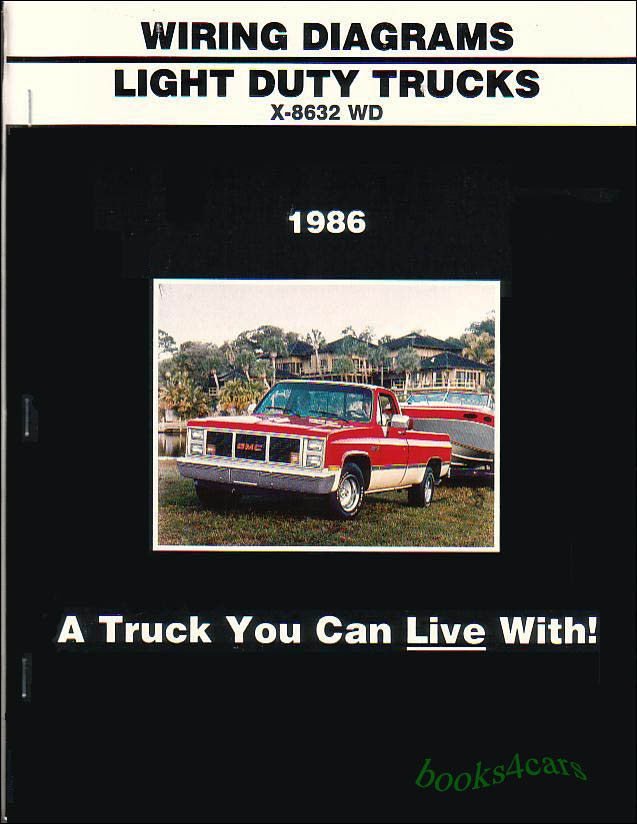 truck manual wiring diagram book 1986 chevrolet gmc c k pickup rh ebay com Basic Electrical Schematic Diagrams Automotive Wiring Diagrams