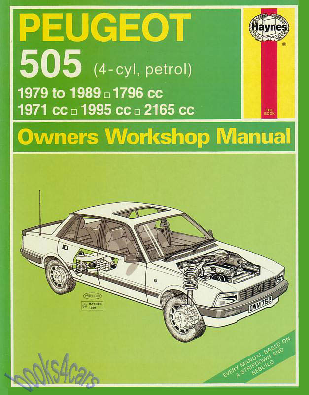 peugeot 505 shop manual service repair book haynes chilton ebay rh ebay com manual peugeot 505 sr pdf manual peugeot 505 sr