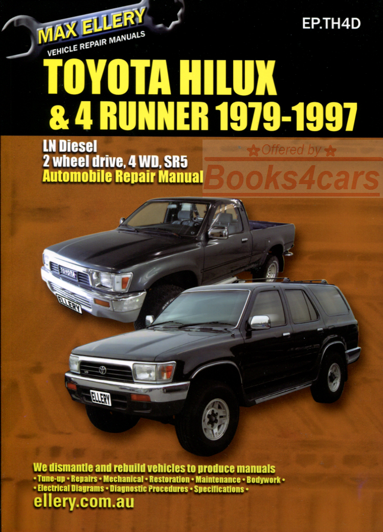 toyota diesel shop manual service repair book ellery hilux 4runner rh ebay co uk 1983 Toyota Hilux 1983 Toyota Hilux