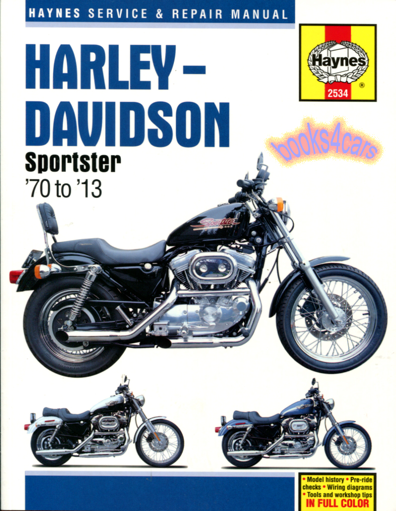 70-2010 Sportster Shop Service Repair Manual hardcover by Haynes ...