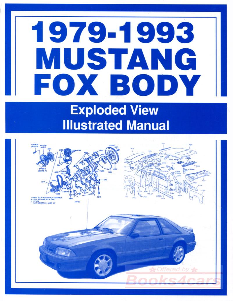 MUSTANG PARTS INTERCHANGE MANUAL FORD HOLLANDER BOOK