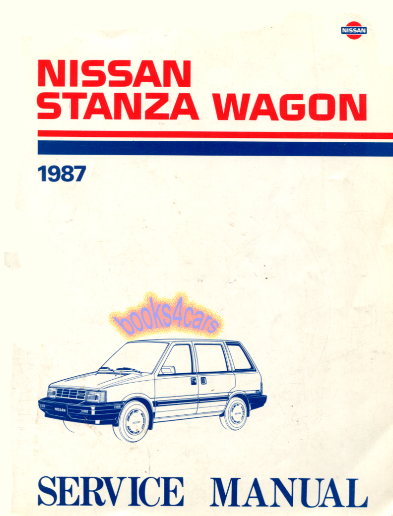 Nissan Stanza Manuals At 92 Altima Wiring Diagram 87 Wagon Shop Service Repair Manual By Stnzwg Svc
