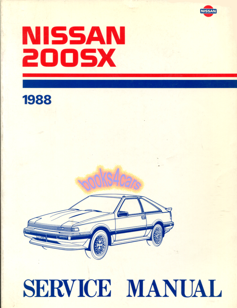 Nissan Manuals At Diagram Of 1988 Stanza Engine 88 200sx Shop Service Repair Manual By For 200 Sx Srvc