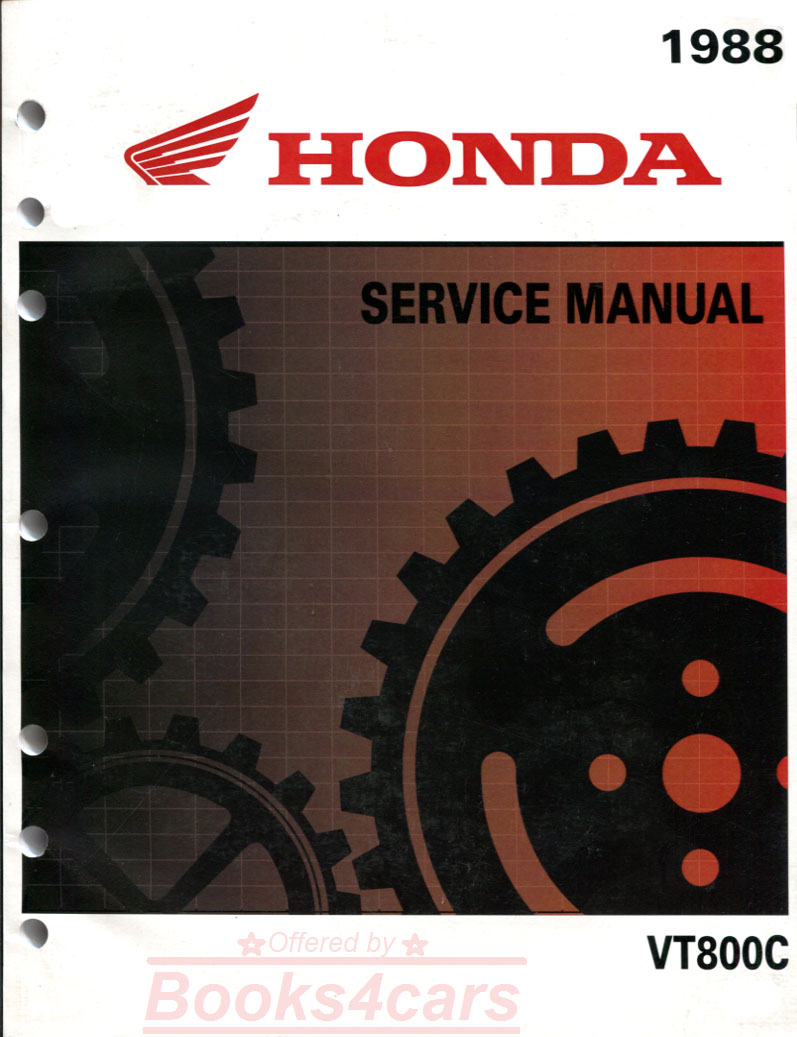 Honda Bikes Shadow Manuals At 1983 Vt750 Wiring Diagram 88 Vt800c Shop Service Repair Manual By Vt 61mr600