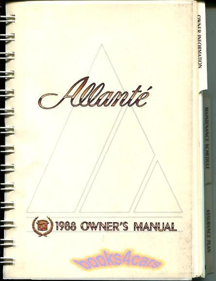 allante manuals at books4cars com rh books4cars com 1989 cadillac allante owners manual Caddy Allante