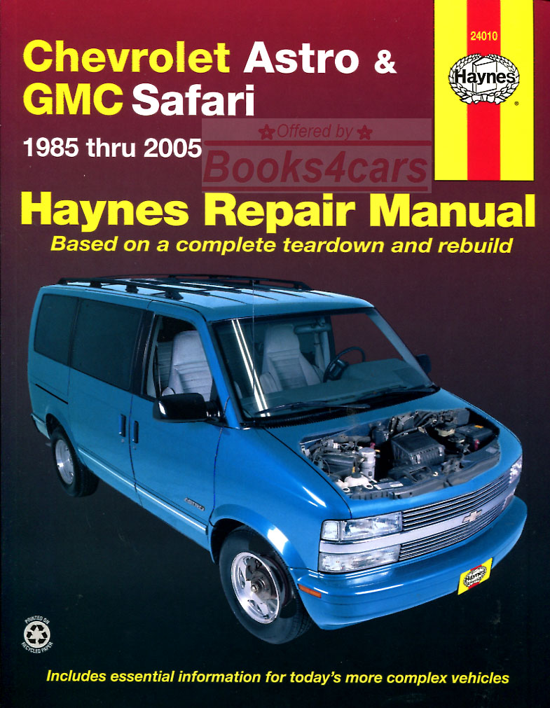 85-2005 Astro & Safari Van shop service Repair Manual by Haynes for  Chevrolet & GMC (89_24010) ...