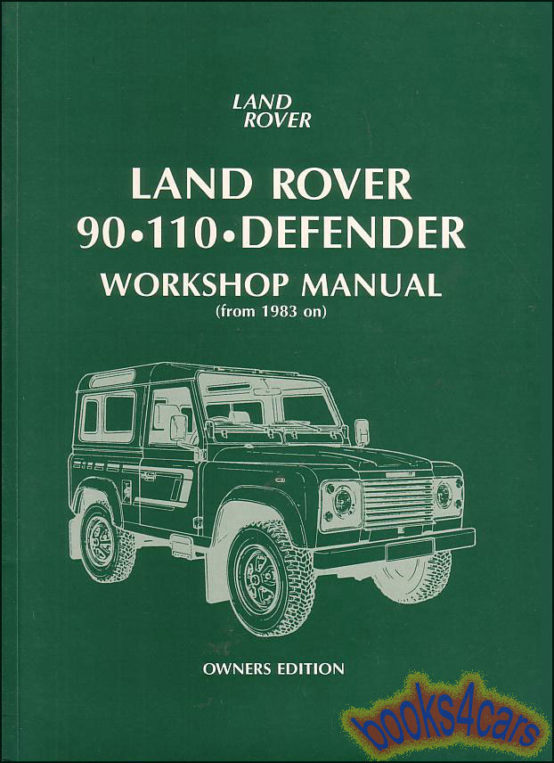 89_B_LR90OWH land rover defender shop service manuals at books4cars com  at sewacar.co