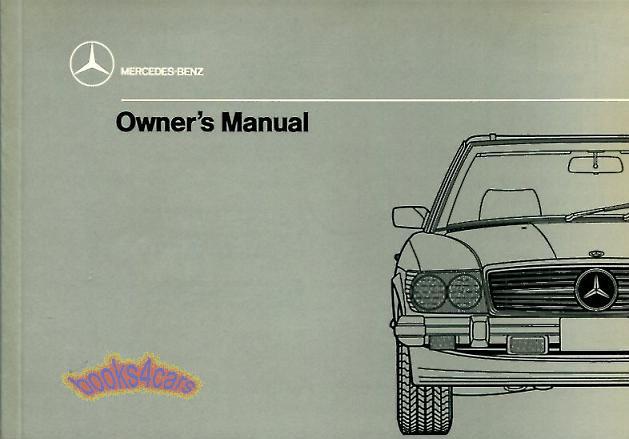 560sl owners manual mercedes 1989 book handbook guide 560 sl 107 ebay rh ebay com Mercedes-Benz 560SEL 1987 mercedes benz 560sl owners manual