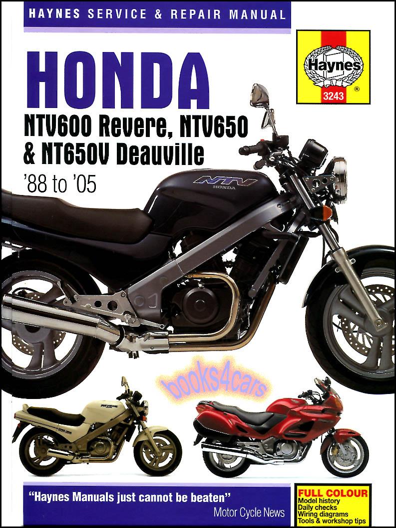 Honda Bikes Manuals At 02 Xr 650 Wiring Diagram 88 2005 Ntv600 Revere Ntv650 Deauville Shop Service Repair Manual By Haynes 905 3243
