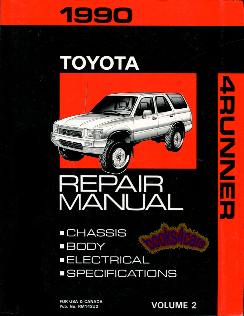 Toyota 4runner Manuals At 1992 Previa Wiring Diagram On 90 Chassis Body Shop Service Repair Manual By 00400rm143u2
