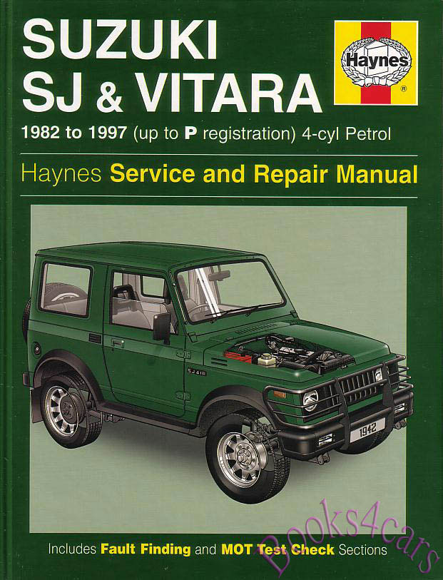 Suzuki Sj Samurai Shop Manual Service Repair Book Sj410