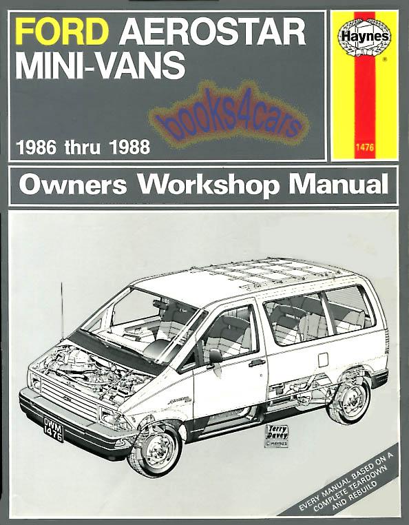 shop manual aerostar service repair ford haynes chilton book ebay rh ebay com Ford Aerostar 4x4 1986 Ford Aerostar Van