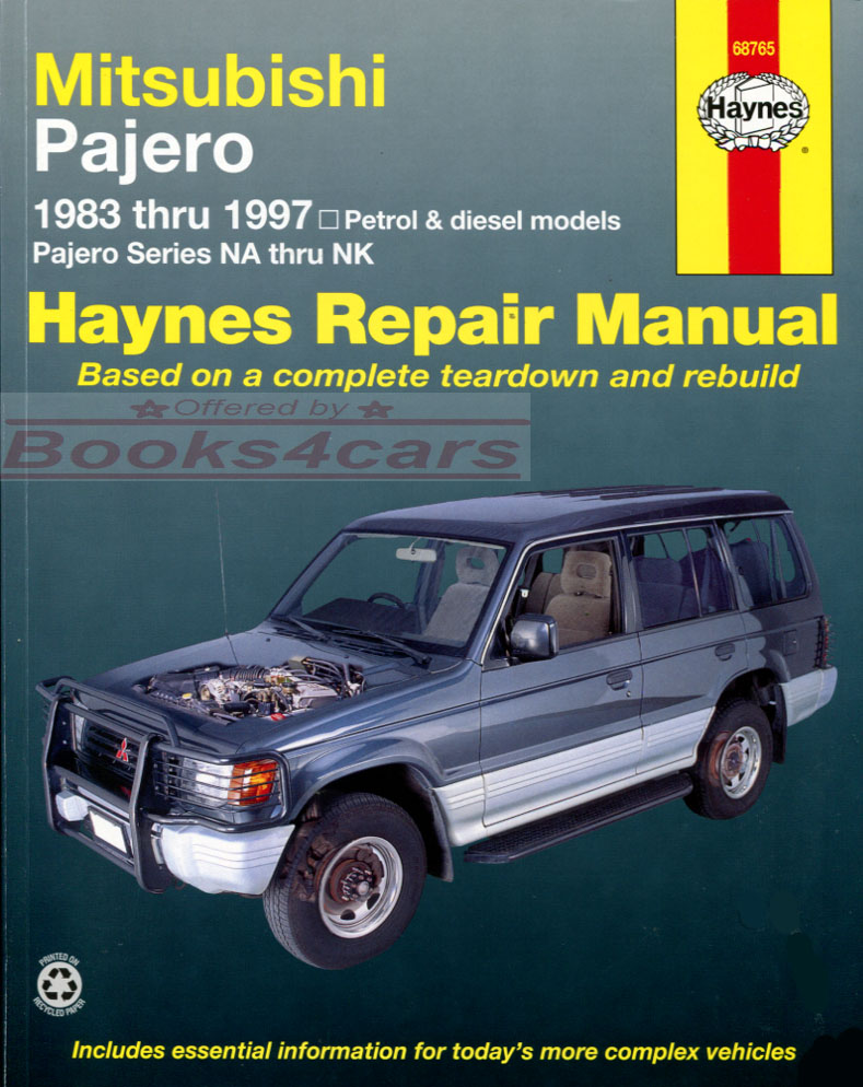 mitsubishi montero shop service manuals at books4cars com rh books4cars com 1998 mitsubishi montero sport ls repair manual 1998 Montero Sport Power Stearing Tank