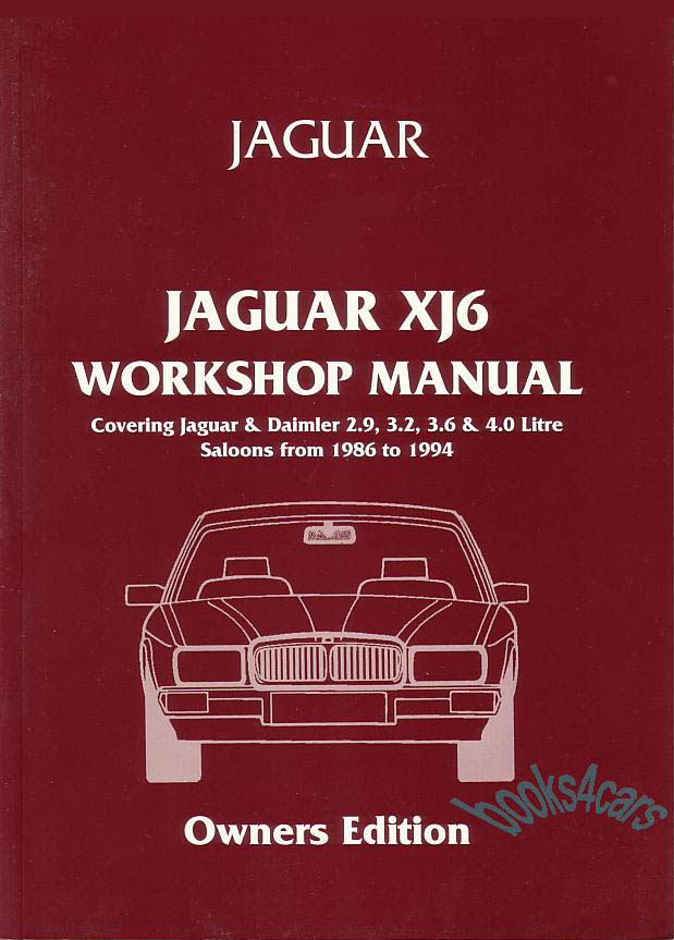 91_B_J40WH jaguar manuals at books4cars com 1988 XJ6 Vanden Plas at couponss.co