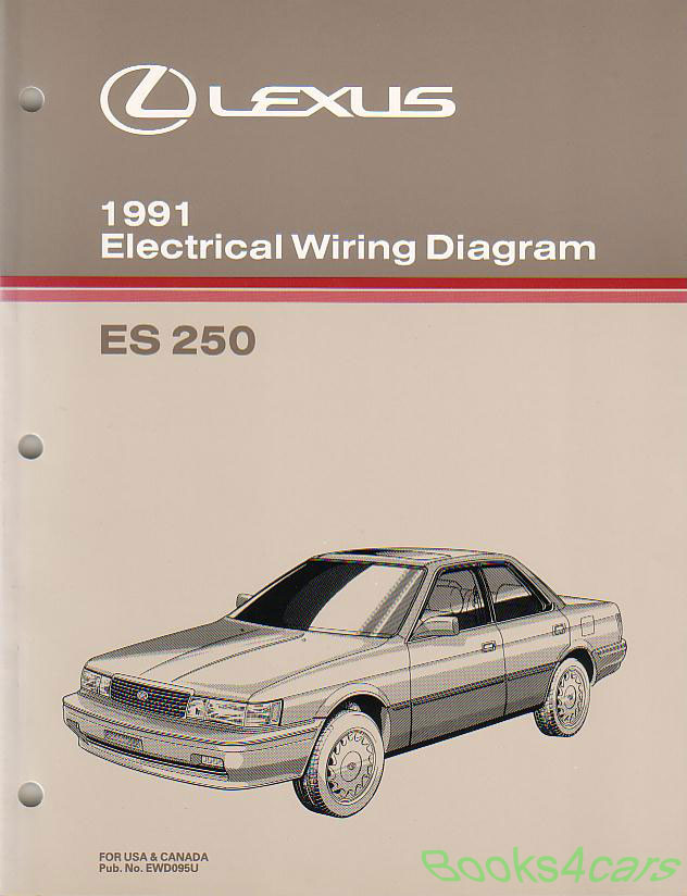 lexus manuals at books4cars com 91 lexus es250 electrical wiring diagrams 91 ewd095u