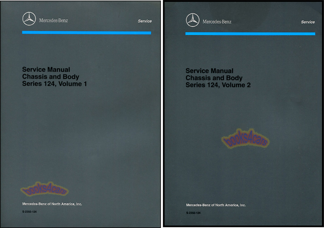 86-95 124 Chassis & Body Shop Service Repair Manual by Mercedes: covers 300E  260E 300CE E300 E320 300TE 300TD 300D and more.