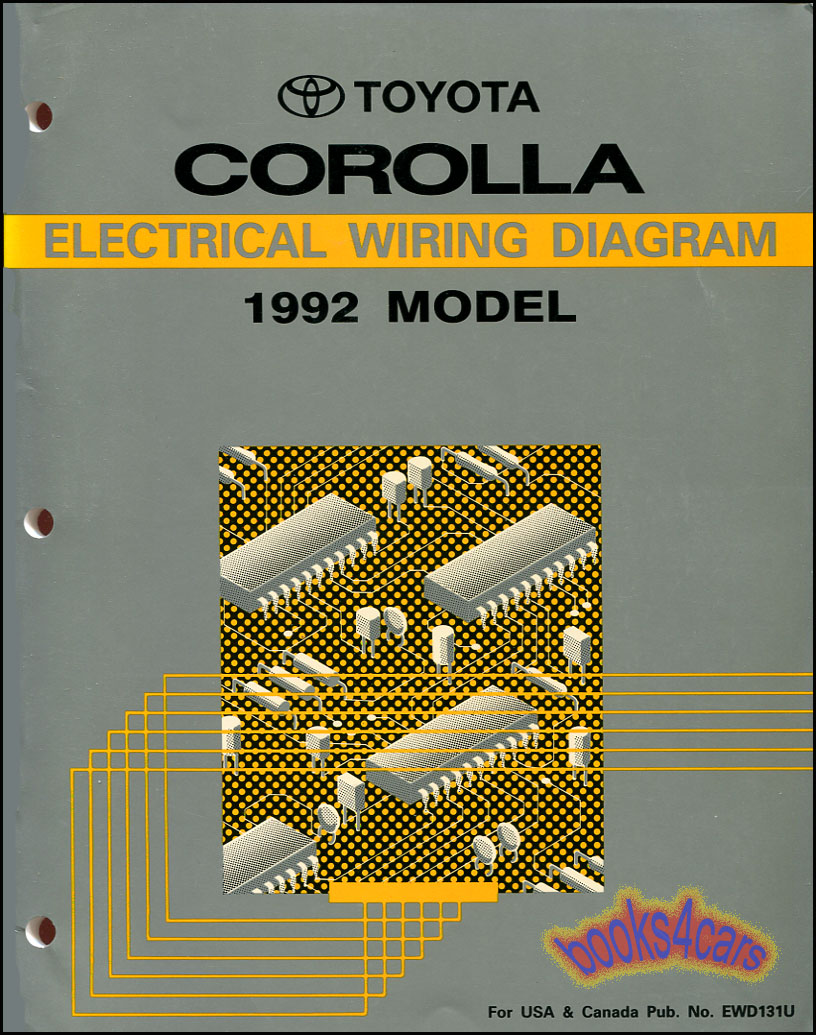 92_CorollaWire shop manual service repair corolla electrical wiring diagram 1996 toyota corolla ignition wiring diagram at crackthecode.co