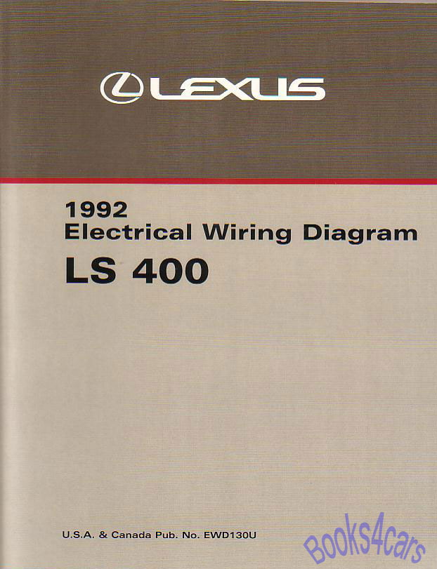 lexus manuals at books4cars com 92 ls400 electrical wiring manual by lexus for ls 400 approx 350 pages 92 ewd130u
