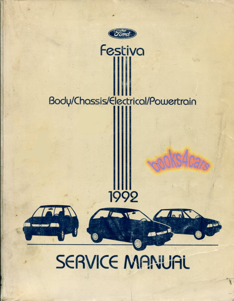 Ford Festiva Manuals At Wiring Diagram For 1988 92 Shop Service Repair Manual By Fps 12133