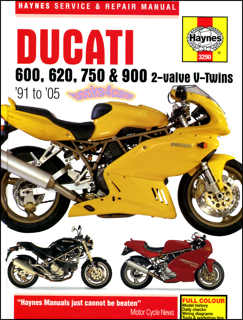 REAL BOOK Ducati Shop Service Repair Manual by Haynes covering 1991-2005  V-Twin