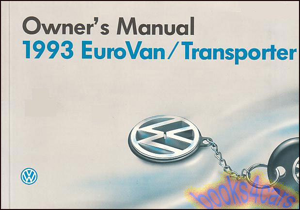 volkswagen eurovan manuals at books4cars com 93 eurovan owners manual by volkswagen 93sa93355170121 not a shop manual