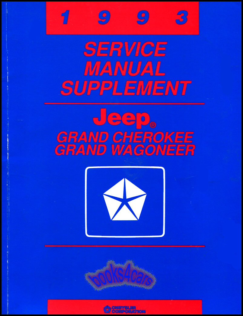 shop manual jeep service repair 1993 book grand cherokee wagoneer rh ebay com
