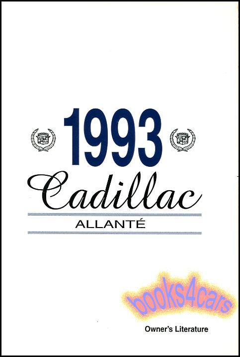 allante manuals at books4cars com rh books4cars com Cadillac Allante Cadillac Allante Coupe