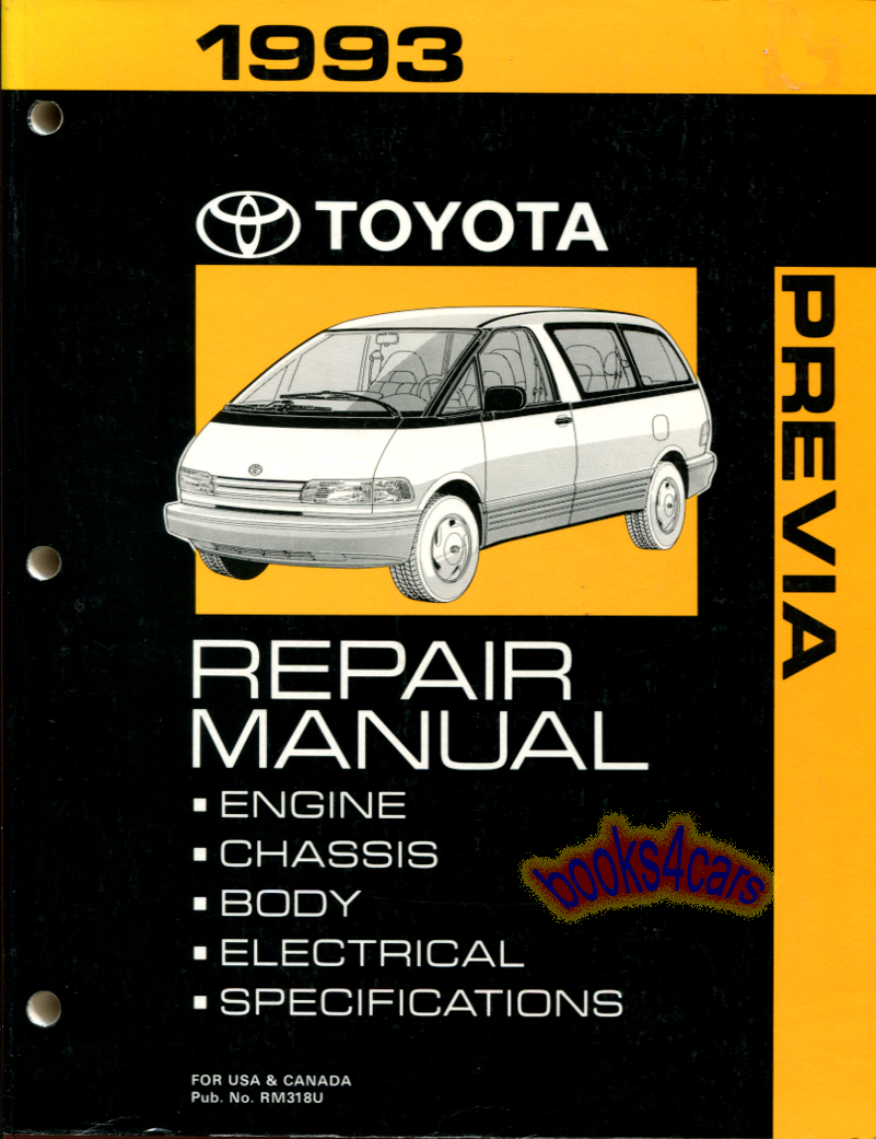 Toyota Previa Manuals At Books4cars Com