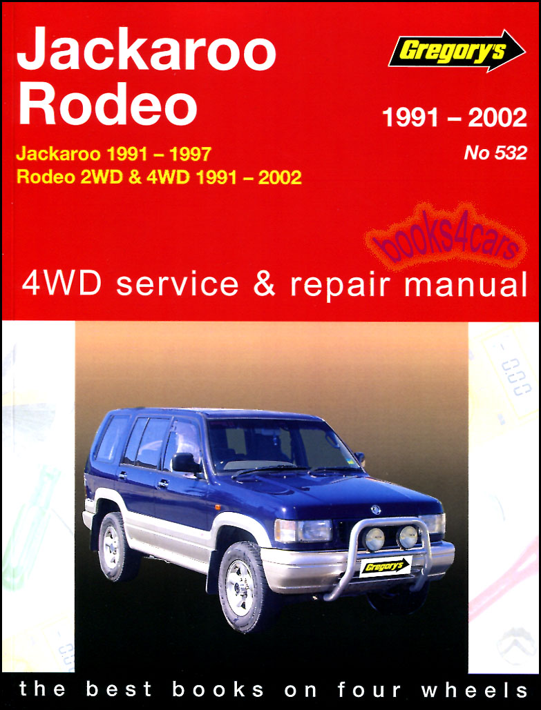 REAL BOOK Large Thick approx 500 pages Shop Service Repair Manual for  1992-2002 Isuzu Trooper & Acura SLX Shop Service Repair Manual also known  as Holden ...