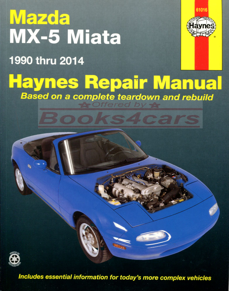 miata shop manual mx5 service repair mazda mx 5 book haynes chilton rh ebay com 1993 mazda miata service manual 1993 mazda miata service manual