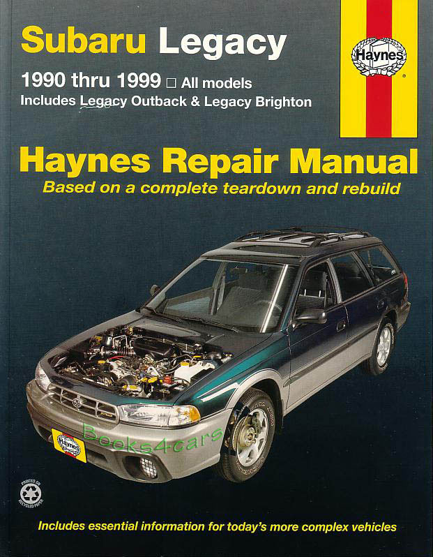 shop manual service repair legacy subaru outback haynes book gt rh ebay com 2002 subaru outback repair manual free 2002 subaru outback owner's manual