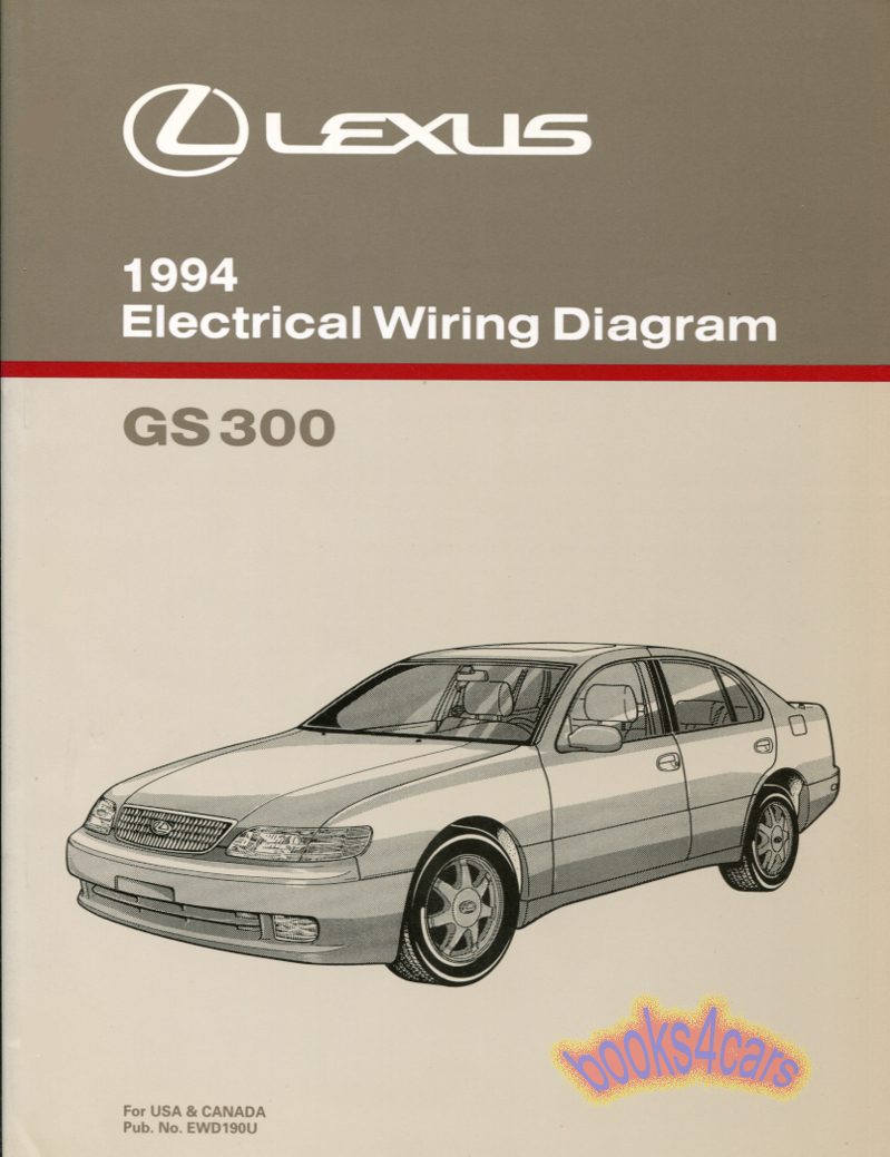 lexus manuals at books4cars com 94 gs300 electrical wiring diagram manual by lexus 94 ewd190u