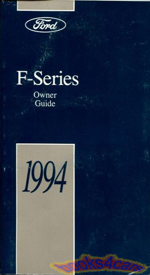 owners manual  ford  series trucks handbook guide