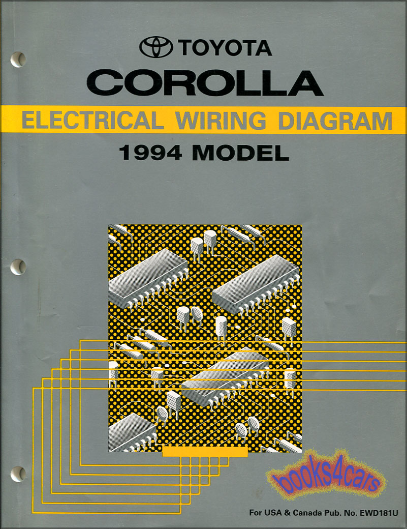 94 Corolla Wiring Diagram Toyota 1994 Manual Electrical Shop Service94 17
