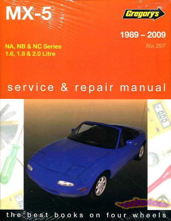 shop manual service repair book owner miata mazda mx5 1989. Black Bedroom Furniture Sets. Home Design Ideas