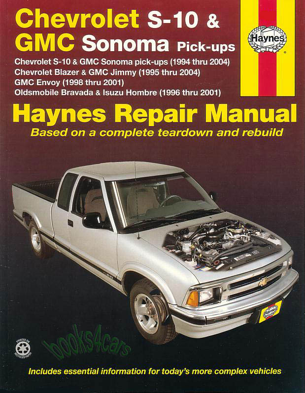 shop manual s10 repair book service chevrolet gmc sonoma oldsmobile rh ebay com gm auto repair manuals 2006 GMC Repair Manual