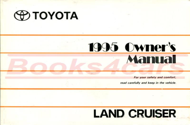 TOYOTA LAND CRUISER 1981 OWNER/'S MANUAL LAND CRUISER OWNERS BOOK