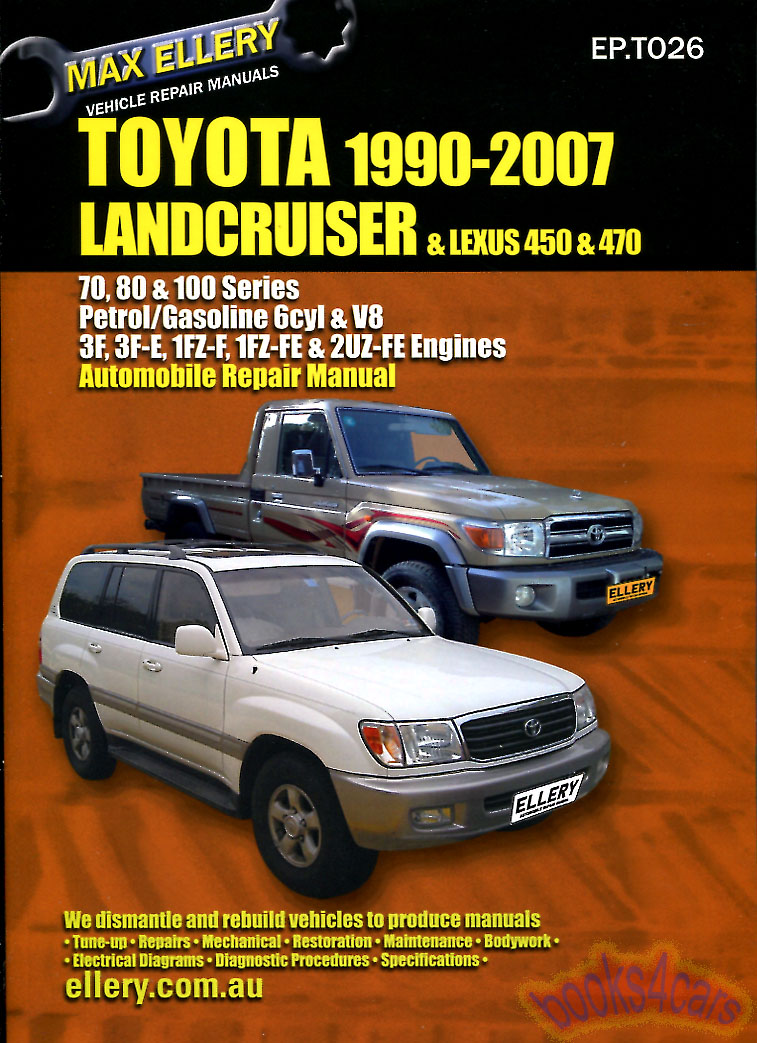 Details about SHOP MANUAL SERVICE REPAIR BOOK LANDCRUISER TOYOTA LX450  LX470 LEXUS GUIDE 90-07