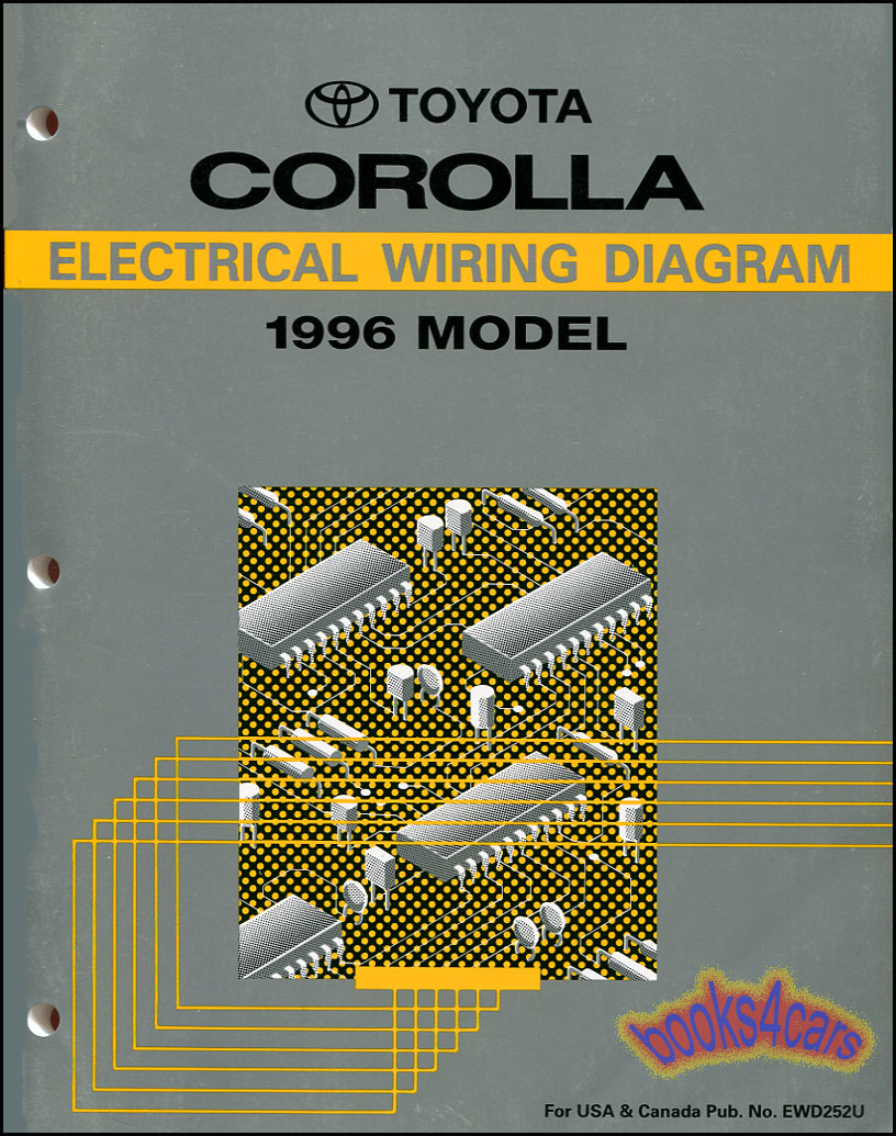 shop manual corolla 1996 electrical service repair wiring diagram schematic  | ebay  ebay