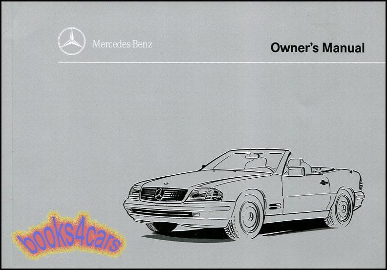owners manual 1996 mercedes book sl320 sl500 sl600 sl 320 500 600 rh ebay com mercedes sl 320 service manual 1995 mercedes sl320 owners manual