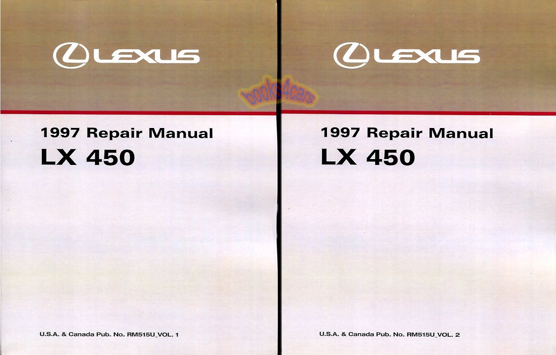 lexus manuals at books4cars com 97 lx shop service repair manual by lexus for lx450 97 00245rm515u