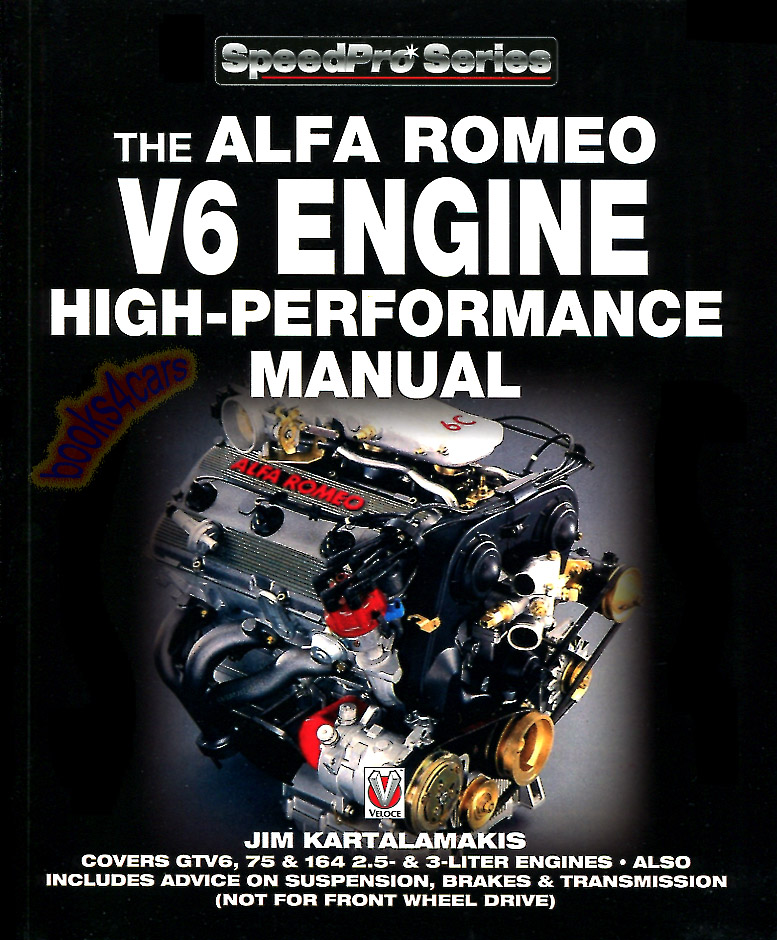 ALFA ROMEO V6 MANUAL BOOK ENGINE PERFORMANCE SHOP 164 GTV6