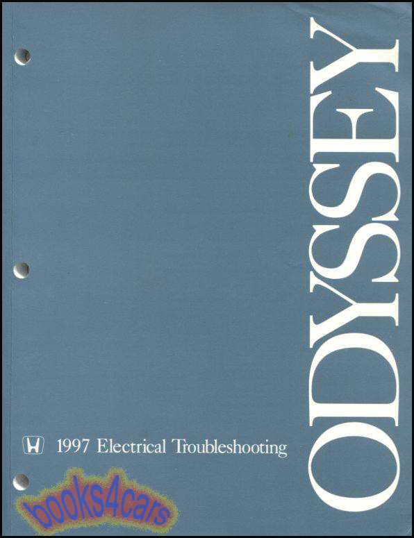1999 Honda Odyssey Electrical Troubleshooting Manual Wiring Diagrams
