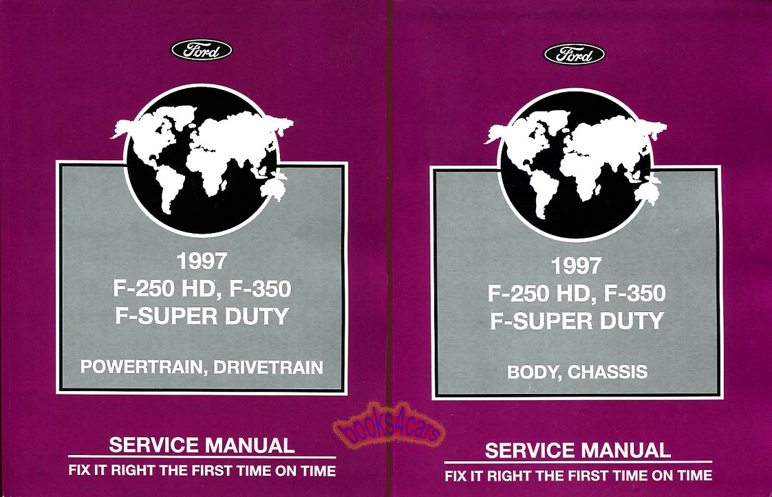 REAL BOOK SET Shop Service Repair Manual 2-vol set for all 1997 Ford Super  Duty Trucks F250 & F350. Books are in New, never-opened condition