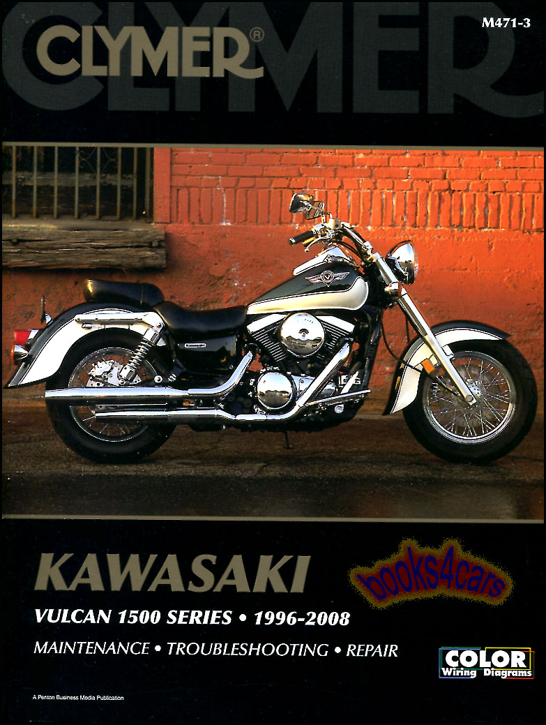 Kawasaki Vulcan Manuals At 2006 1500 Wiring Diagram 96 2008 Vn1500 Series Classic Shop Service Repair Manual 432 Pages By Clymer For 97 D1 D2 98 2004 E1 E7 M471 3