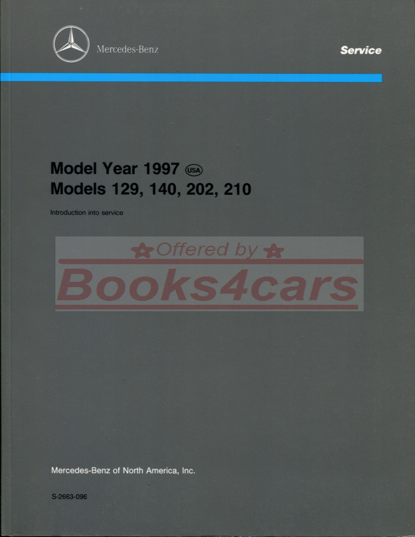 97 Technical intro manual for Mercedes cars (97_S_2663_096) ...