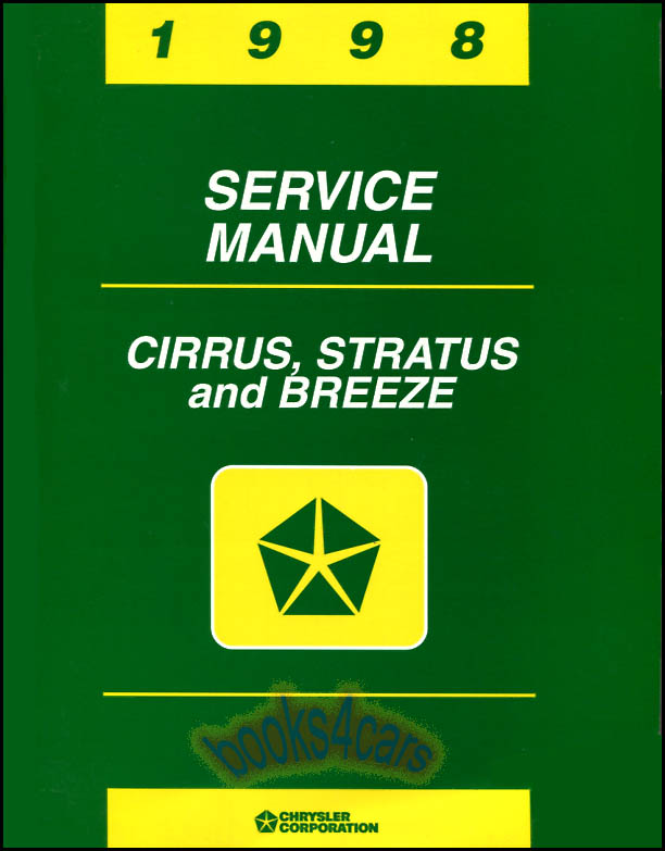 chrysler sebring repair manual pdf