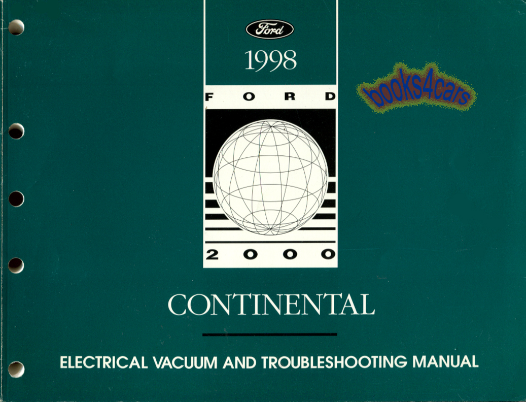 98 Contour & Mystique electrical & vacuum troubleshooting manual by Ford &  Mercury (98_Cont_EVTM) ...